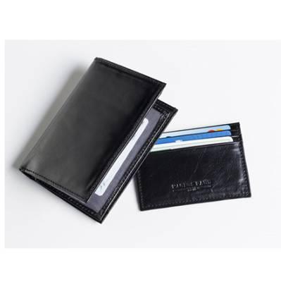 Musta lompakko + korttikotelo