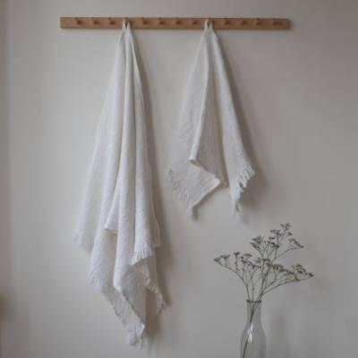Vohvelipyyhe 70 x 140 cm valkoinen